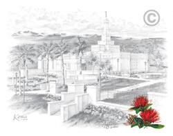 Laie Hawaii Temple Sketch In Temple Ch Sketch Laie