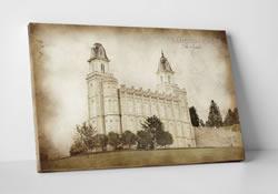 Logan Temple Vintage Canvas Wrap In Temple D Lwa Cwt Log