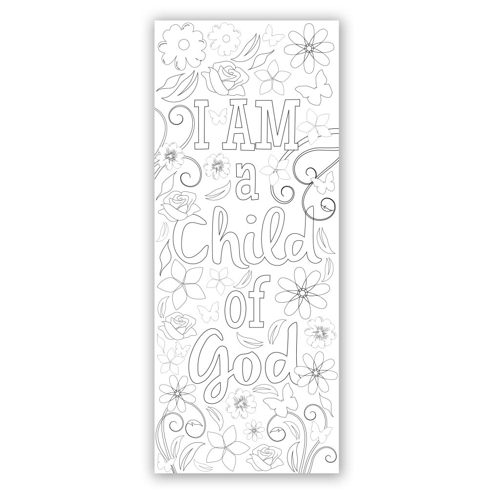 Religious bookmarks to color - Flower Coloring Bookmark Coloring Bookmark Lds Bookmark Lds Coloring Bookmark Primary Bookmark
