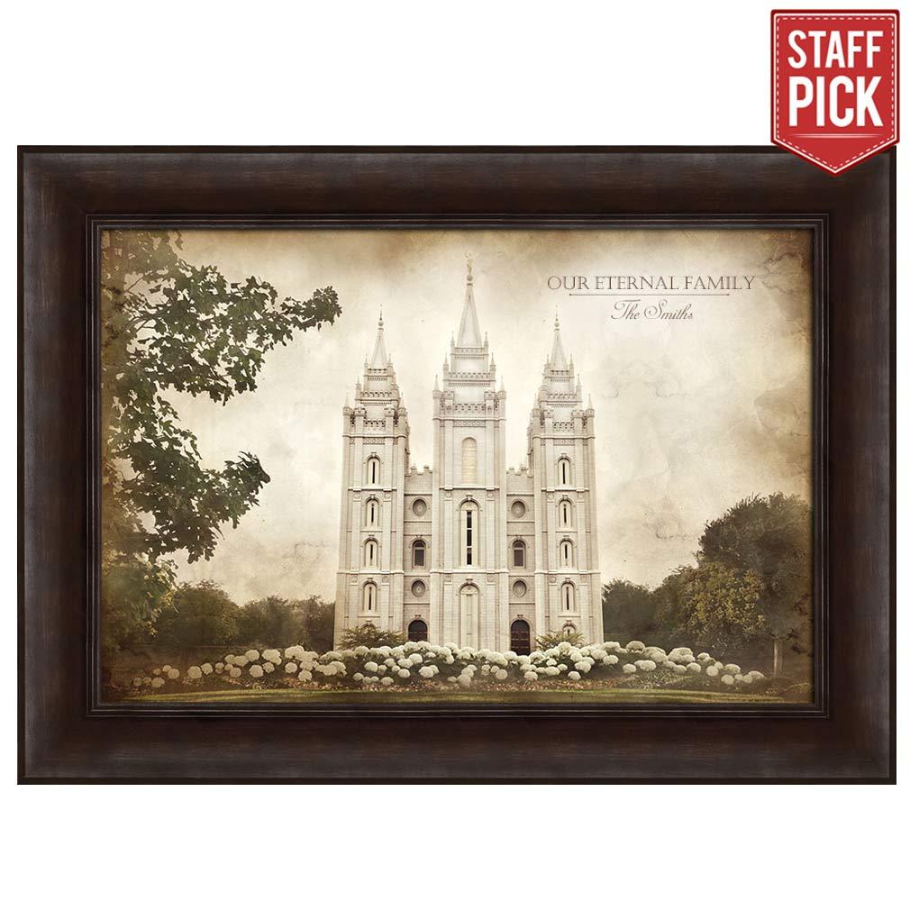 Lds framed art beautiful images of the savior temples church salt lake temple vintage framed jeuxipadfo Choice Image