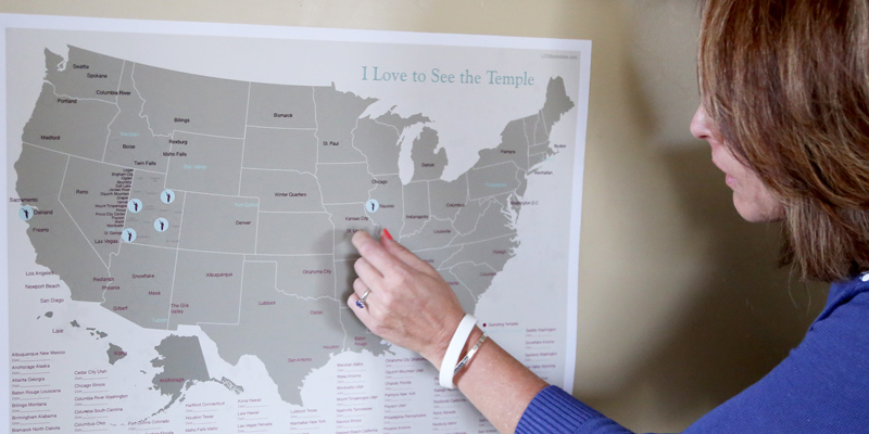 United States Temple Map In Posters LDSBookstorecom LDPPST - Lds temples in the us map