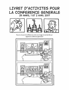 April 2017 General Conference Activity Packet Printable - French general conference printable, general conference activity packet, free general conference printable,
