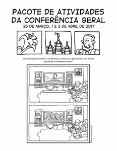 April 2017 General Conference Activity Packet Printable - Portuguese general conference printable, general conference activity packet, free general conference printable,