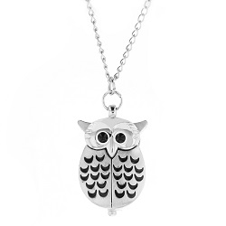 Silver Owl Watch Necklace