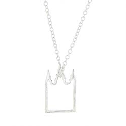 Salt Lake Temple Outline Necklaces - Silver