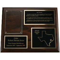 Missionary Plaque - 8 x 10 - 3 Plates