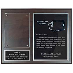 Missionary Plaque - 2 Plates
