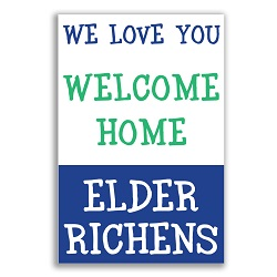 We Love You Missionary Poster lds missionary banner,missionary poster, homecoming mission poster, LDS mission home banner
