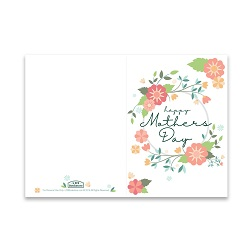Mothers Day Card - Spring Flowers - Printable free mothers day card, printable mothers day card, flowery mothers day card