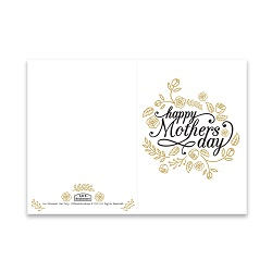 Mothers Day Card - Gold Roses - Printable free mothers day card, printable mothers day card, flowery mothers day card