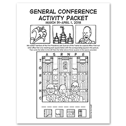 April 2018 General Conference Activity Packet Printable - English general conference printable, general conference activity packet, free general conference printable,