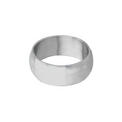 Domed Stainless Steel Wide Ring