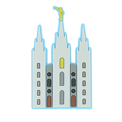 Salt Lake Temple Magnet temple magnet, temple fridge magnet, salt lake temple magnet, lds magnets, lds magnet, lds fridge magnet