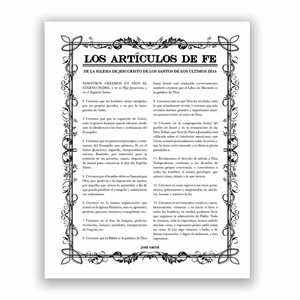Filled Leaf Articles of Faith - Spanish filled leaf, leaf, black, gold, charcoal, the articles of faith, articles of faith