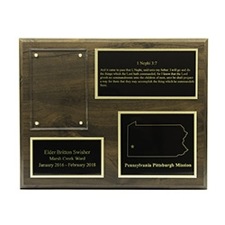 Missionary Plaque 8x10 - 3 Plates