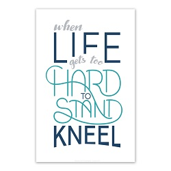 When Life Gets Too Hard to Stand Poster - Navy Printable