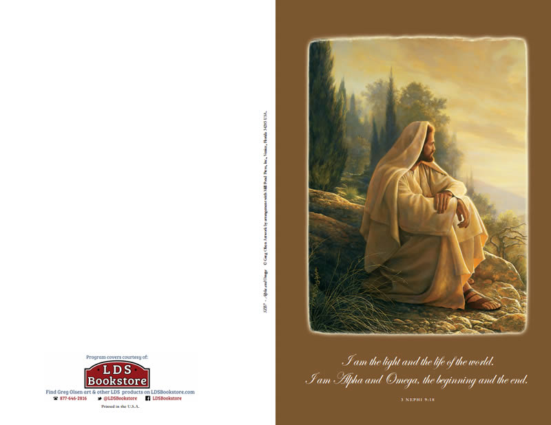 Alpha and Omega LDS Program Covers by LDSBookstore.com