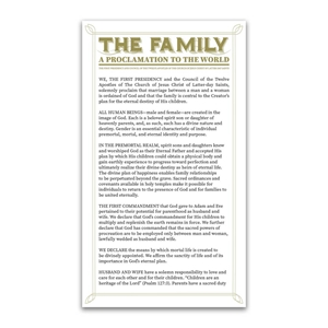 Family Proclamation Bookmark lds bookmarks, lds bookmark, family proclamation bookmark, the family: a proclamation to the world