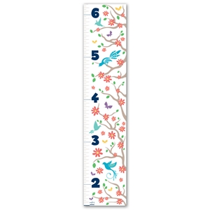Childrens Growth Chart - Flower Garden