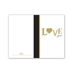 Gold Love You Valentines Day Card - Printable