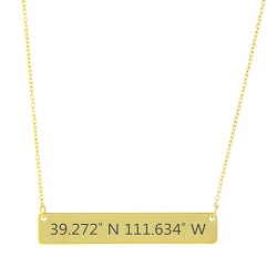 Temple Coordinates Necklace horizontal bar necklace, temple coordinate necklace, marriage coordinate necklace, coordinate jewelry, lds coordinate jewelry