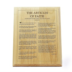 Articles of Faith Wood Plaque wooden family proclamation plaque, family proclamation wood, the family a proclamation wooden