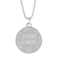 When Life Gets Too Hard to Stand, Kneel Pendant Necklace when life gets too hard to stand kneel, when life gets too hard to stand kneel necklace, if life gets too hard to stand kneel necklace