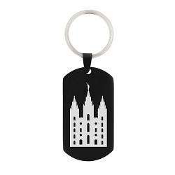 LDS Temple Keychain/Necklace