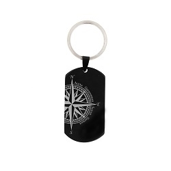 Family Compass Keychain/Necklace