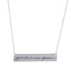 Families are Forever Bar Necklace
