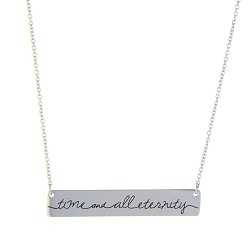 Time and All Eternity Bar Necklace time and all eternity necklace, for time and all eternity necklace