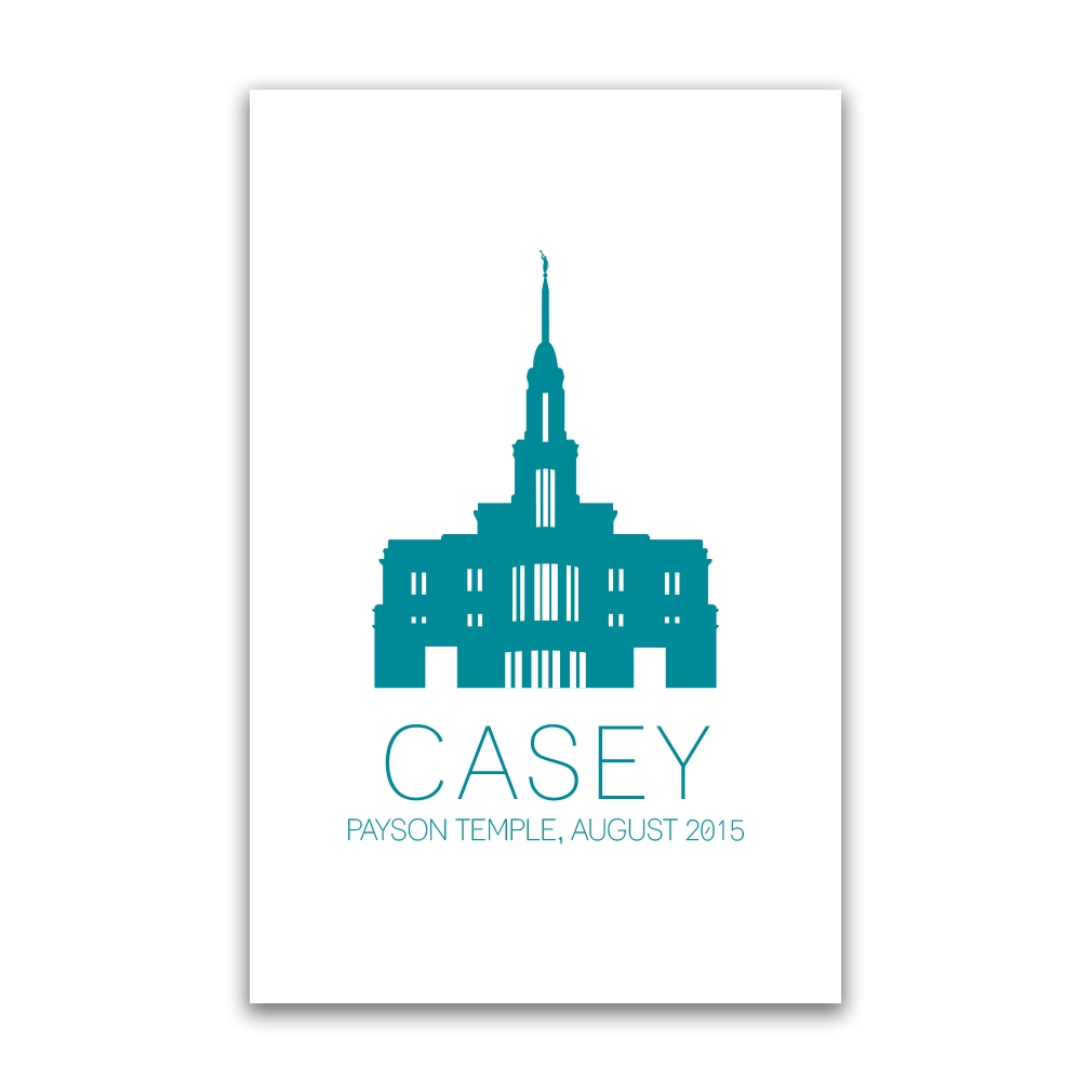 Personalized Temple Vector Poster - Outline - LDP-CTEMPPOSTOUTLINE