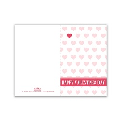 Pink Heart Patterns Valentines Day Card - Printable