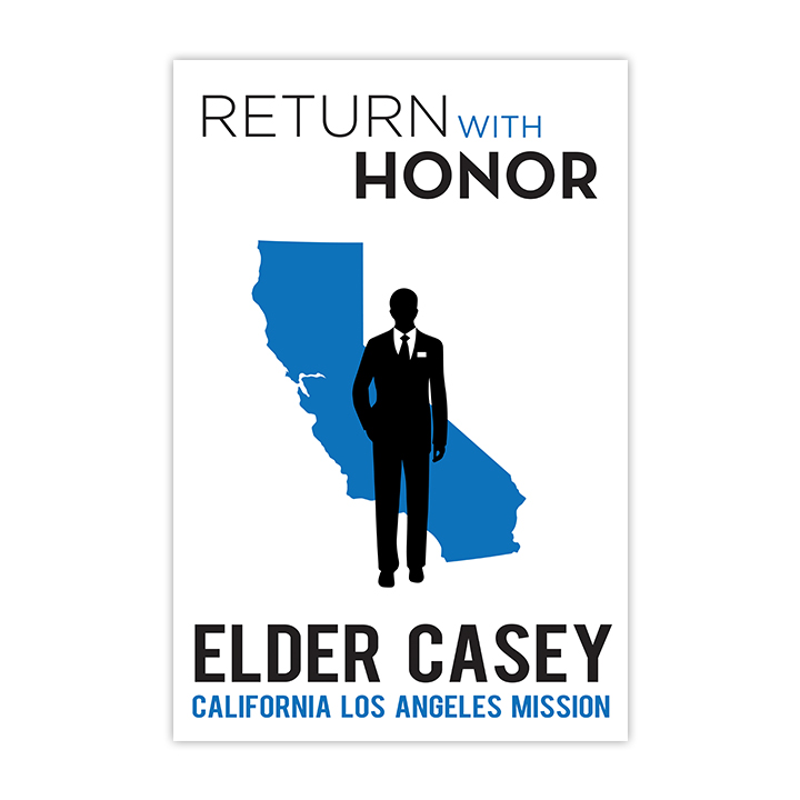 Elder Return With Honor Missionary Poster