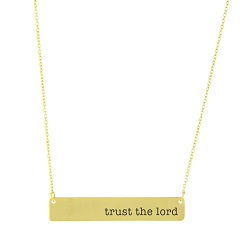 Trust the Lord Bar Necklace bar necklace, text bar necklace, gold bar necklace, engraved necklace, trust the lord, trust in the lord, trust the lord necklace