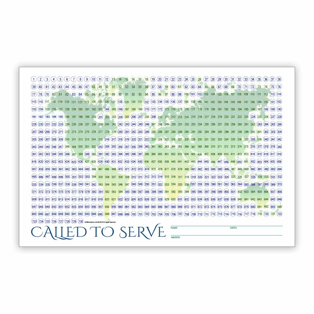 World Missionary Countdown Sheet - Elder in Missionary ...