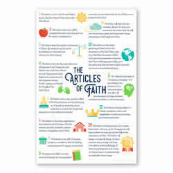 Articles of Faith Poster primary poster, articles of faith, articles of faith poster, 11x17 poster, 11 x 17 poster