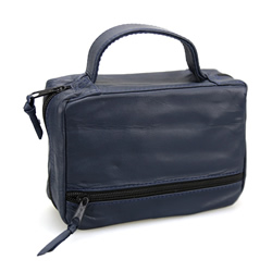 Navy Leather Triple and Bible Tote (Regular)