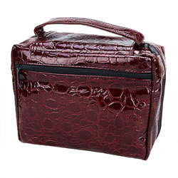 Regular Reptile Dark Red Tote