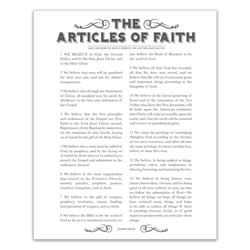 Newspaper Articles of Faith - Charcoal - Printable articles of faith posters, articles of faith, newspaper articles of faith, articles of faith printable