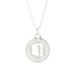 Arizona Mission Necklace - Silver/Gold arizona lds mission jewelry