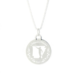 Arkansas Mission Necklace - Silver/Gold arkansas lds mission jewelry