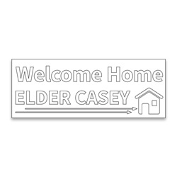 Personalized Coloring Missionary Banner - Arrows lds missionary banner, missionary poster, homecoming poster, personalized missionary homecoming banner, personalized missionary banner