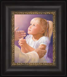 A Childs Prayer - Framed