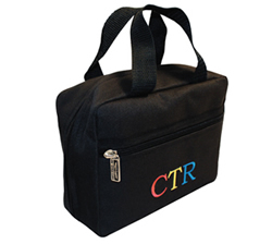 CTR Primary Colors Black Scripture Tote
