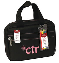 CTR Black with Pink Flower Scripture Case Regular