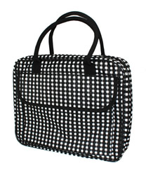 Janie Black and White Temple Bag
