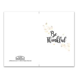 Gold Thankful Program Cover - Printable lds program cover, lds printable program cover, lds sacrament program