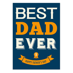 Fathers Day Card - Best Dad - Printable free fathers day card, fathers day card, printable fathers day card, free downloadable fathers day card