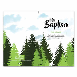 Boys Trees Baptism Program Cover - Printable lds program cover, lds printable program cover, baptism program cover